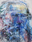 Lev Tolstoy. 2011. Acrylic on canvas, markers, 227x174 cm