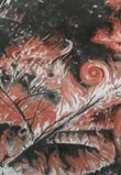 Forest Fire. 200x420 cm, coal, sanguine on canvas, 2008
